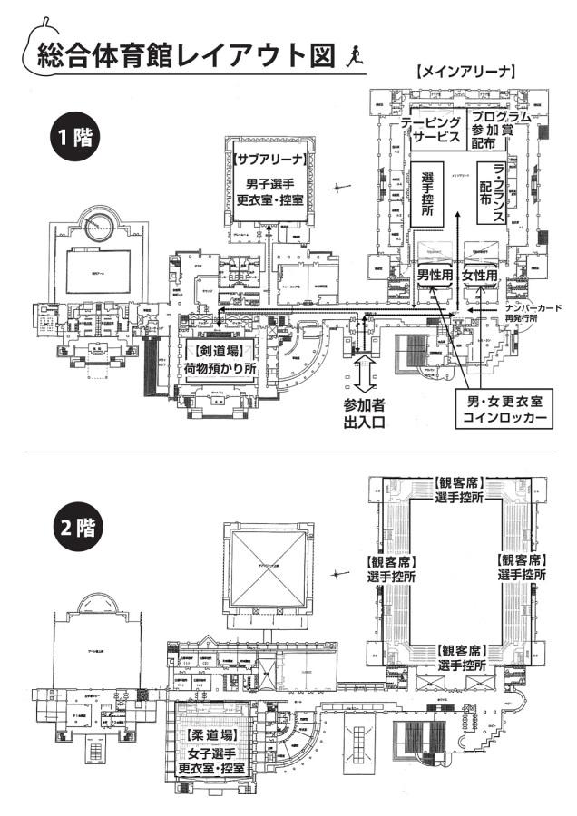 総合体育館レイアウト図